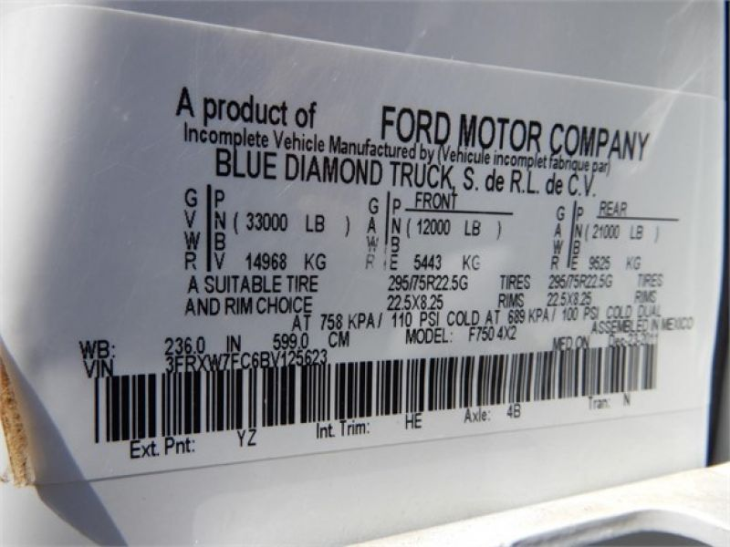 2011 FORD F750 5087893237