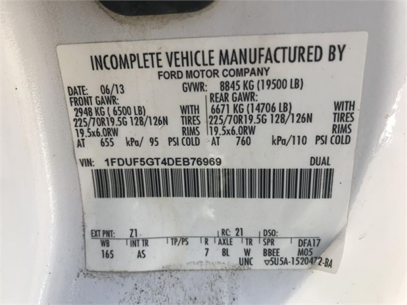 2013 FORD F550 6065512329