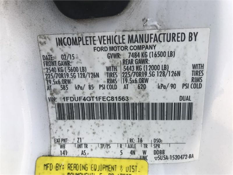 2015 FORD F450 6085130465