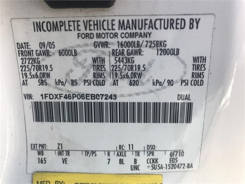 2006 FORD F450 SD 6116614495